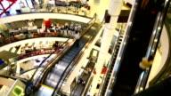 Modern asian shopping mall video