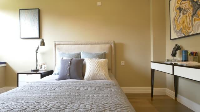 modern bedroom interior 4k video