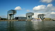 Modern Buildings with Rhine River video