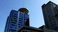 Modern business building and Vancouver lookout tower video