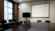 modern business office meeting room interior video
