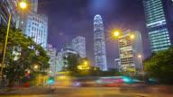 Modern city, Hong Kong business and finance district video