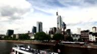 modern city panorama, timelapse video