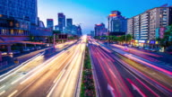 Modern city time lapse 4K video