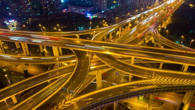 modern city transportation time-lapse video
