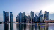 modern cityscape of singapore from day to night,timelapse video