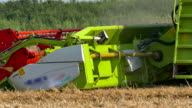 Modern combine harvesters in the field video