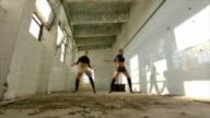 Modern dance in an abandoned warehouse video