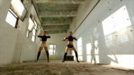 Modern dance in an abandoned warehouse video