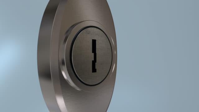 Modern dead latch key opening a lock video