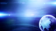 Modern Globe Background (blue, right placed) - Loop video