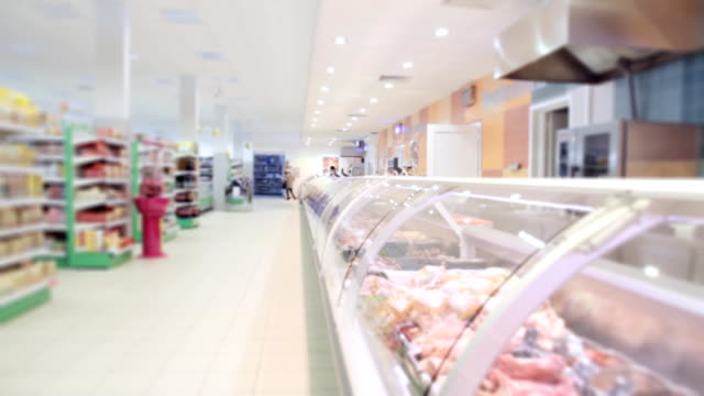 Modern grocery store video