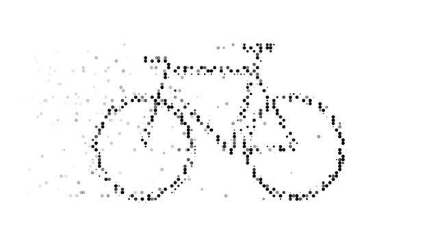 BICYCLE : modern halftone style (TRANSITION) video