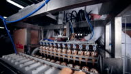 Modern ice cream automatic production line. Automatic equipment at the food factory video
