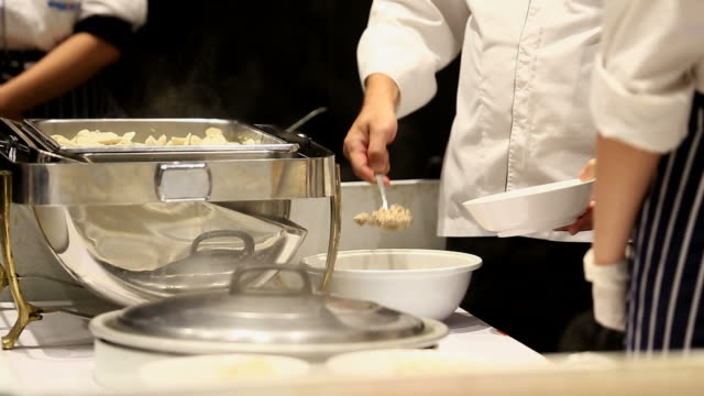 Modern kitchen and busy chefs video