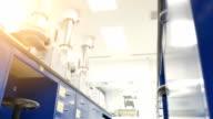 Modern laboratory interior video