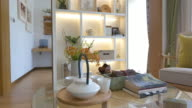 modern living room interior 4k video