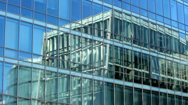 Modern office building establishing shot video