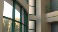Modern office building interior video