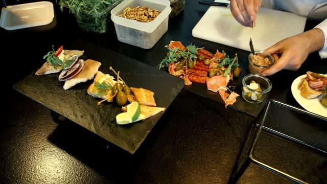 Modern Plate of Elegant Food video