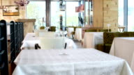 HD DOLLY: Modern Restaurant Interior video