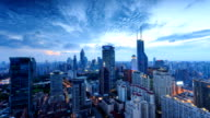modern skyline,cityscape and traffic of  shanghai ,timelapse. video