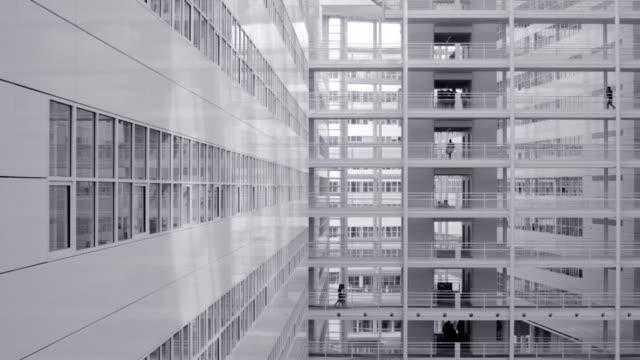 Modern white architecture video