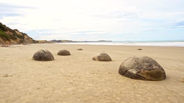 Moeraki Boulders in New Zealand video