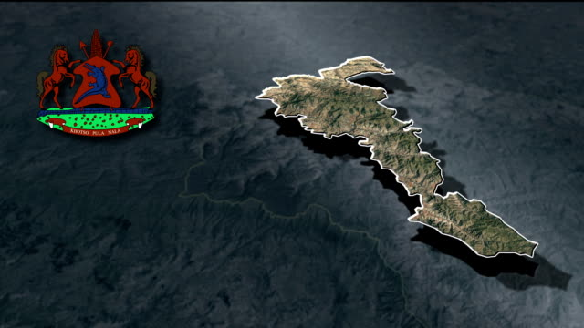 Mohale's Hoek with Coat Of Arms Animation Map video