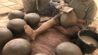 Molding clay pot Of rural people,Handmade video