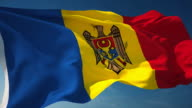 Moldova Flag - Loopable video