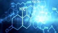 graphic motion CG moléculaire composé de formule chimique - Vidéo