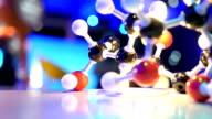 DNA molecule model in biology lab test video