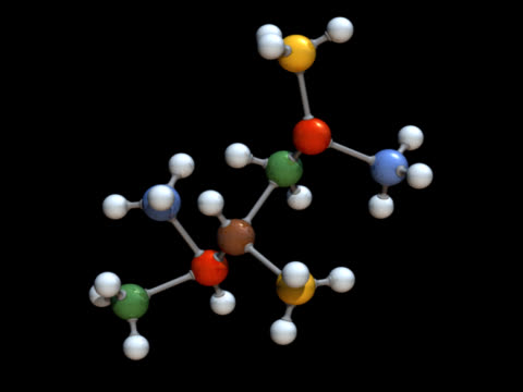 Molecule Model Rotating video