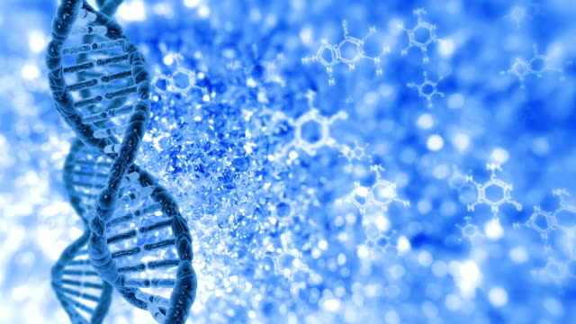 DNA molecules cyclical video video