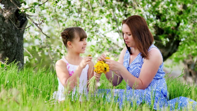 Mom And Daughter 10 Years In Nature video
