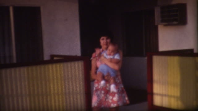 Mom and Plump Baby 1960's video