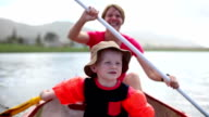 Mom and son off on a paddle video