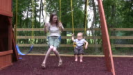 Mom and Son Swing HD video