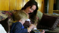 Mom reads book to child video