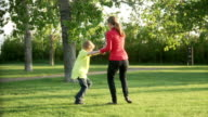 Mom swings son video