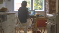 Mom working from home 4K video