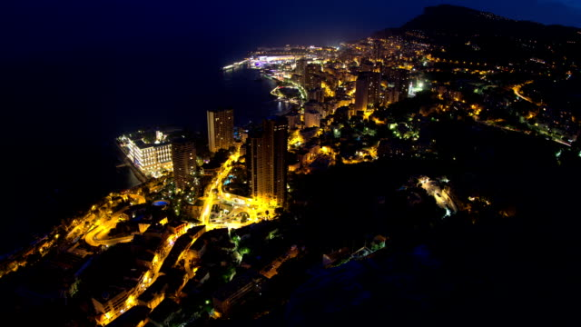 Monaco Cityscape Time Lapse video