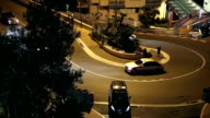 Monaco Fairmont hairpin at night video