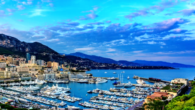 Monaco Harbour and Marina in Monte Carlo video