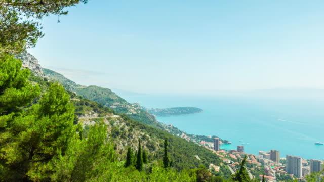 Monaco Montecarlo, 4k panoramic time-lapse video
