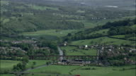 Monastery Ruins At Whalley  - Aerial View - England,  Lancashire,  Ribble Valley District helicopter filming,  aerial video,  cineflex,  establishing shot,  United Kingdom video