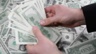 Money and hands video