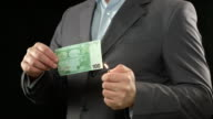 Money burning. Financial crisis, bankruptcy, loan, inflation video