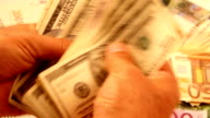 Money Counting (HD) video